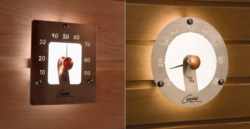 hygrometre illumine pour sauna
