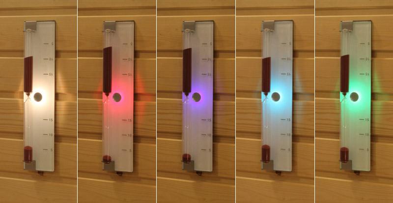 sablier illumine pour sauna