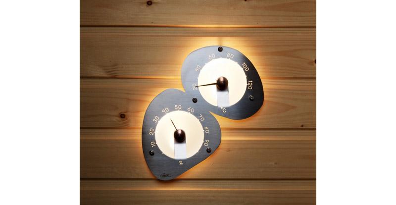 thermometre et hygrometre illumine pour sauna