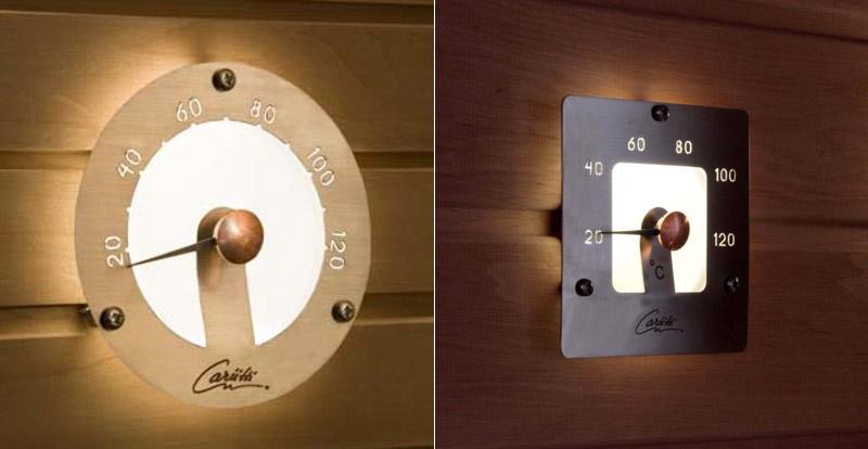thermometre illumine pour sauna