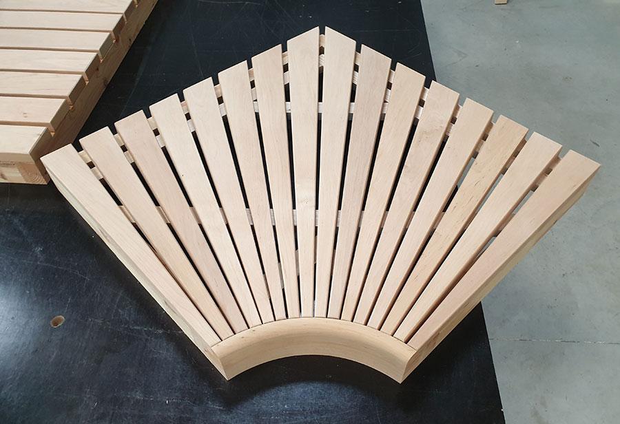 banquette sauna module angle