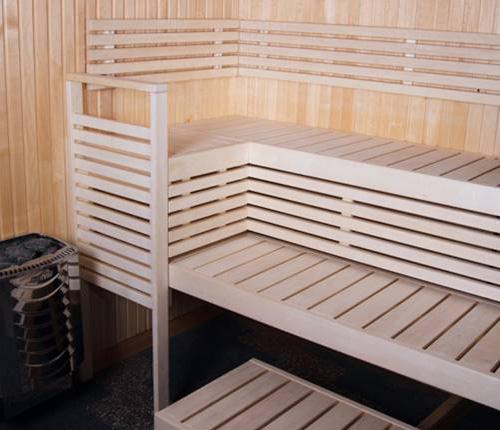 Banquettes de sauna