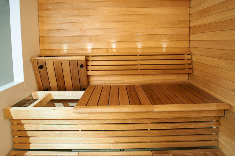 banquettes pour saunas de la marque sunsauna. Black Bedroom Furniture Sets. Home Design Ideas