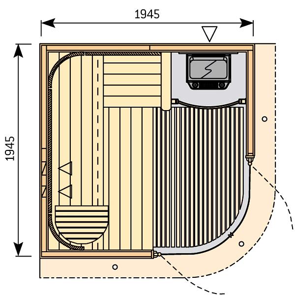 sauna harvia rondium