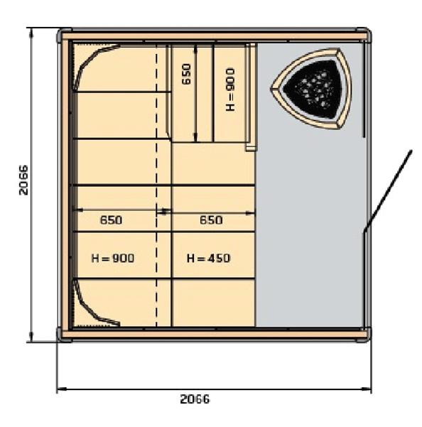 sauna harvia claro