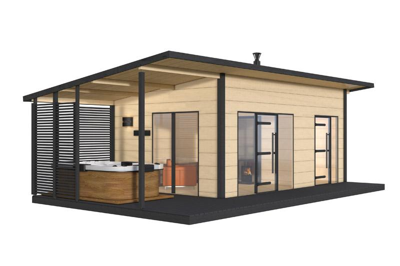 sauna exterieur harvia solide. Black Bedroom Furniture Sets. Home Design Ideas