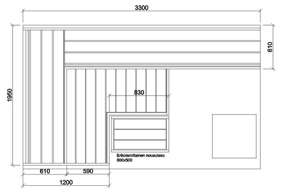 plan banquette sauna aulne thermique